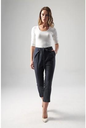 Jument 2427 Lacivert Çizgi Kadın Pantolon