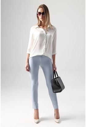 Jument 3891 Krem Rengi Kadın Gömlek