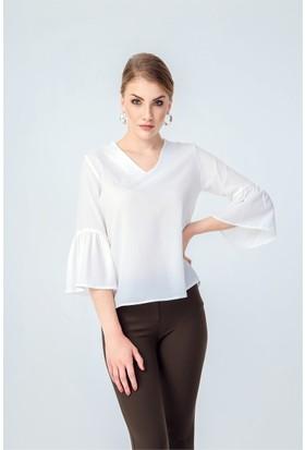 Jument 3952 Krem Rengi Kadın Bluz