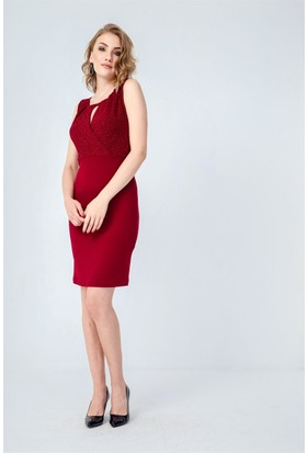 Jument 3958 Bordo Kadın Elbise