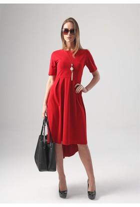 Jument 3997 Kırmızı Kadın Elbise
