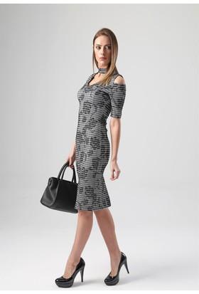Jument 4062 Gümüş Kadın Elbise
