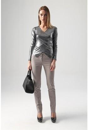 Jument 6041 Gümüş Kadın Bluz