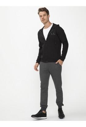 Xint Kapüşonlu Siyah Renk Sweatmont