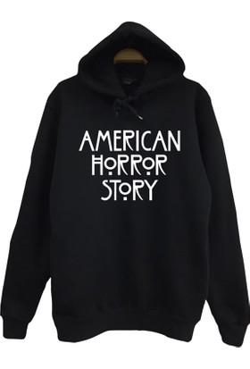 Stoned American Horror Story Baskılı Kapşonlu Sweatshirt