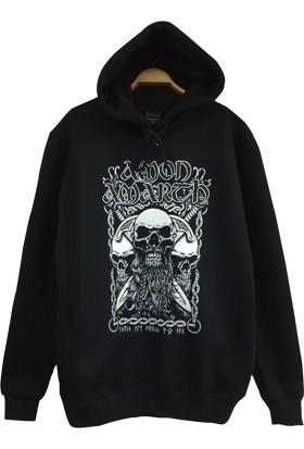 Stoned Amon Amarth Baskılı Unisex Kapşonlu Siyah Sweatshirt