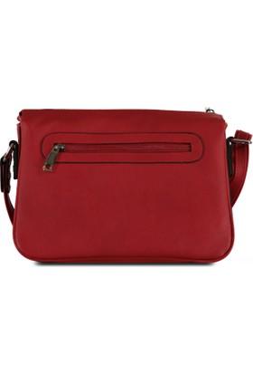 Marjin Renda Postacı Çanta Kırmızı