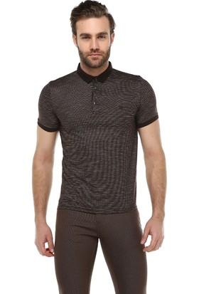 Brango 40137-2 Caprina Desenli Polo Yaka İndigo T-Shirt