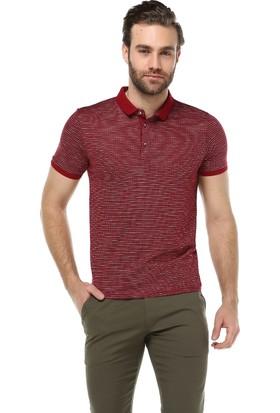 Brango 40137-4 Caprina Desenli Polo Yaka Bordo T-Shirt