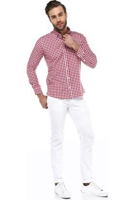 Brango 55110-1 Dar Kalıp Beyaz Pantolon
