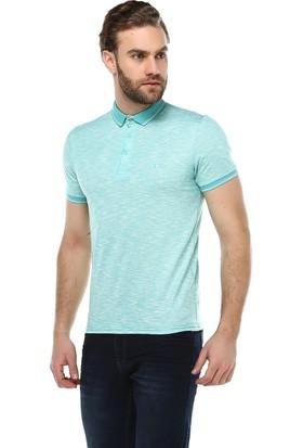 Brango 40134-4 Lesoro Yaka Dikişli Polo Yaka Su Yeşili T-Shirt