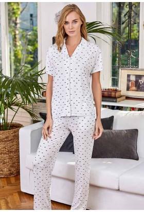 Eros Esk21570 Modal Gömlek Kısa Kollu Pijama Takımı