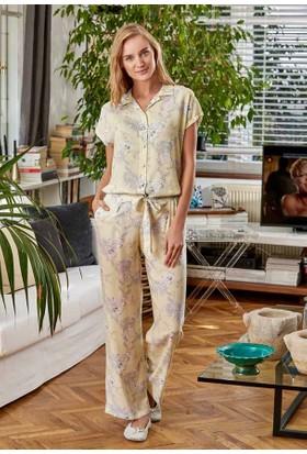 Eros Esk21650 Vual Viskon Gömlek Kısa Kollu Pijama Takımı