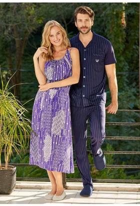 Eros Ese21080 Gömlek Kısa Kollu Pijama Takımı