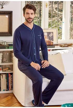 Eros Ese21120 V Yaka Gömlek Uzun Kollu Pijama Takımı