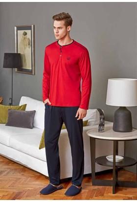 Eros Ese21122 O Patlı Uzun Kollu Pijama Takımı