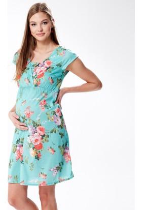 Hooyo Hamile Emzirme Özellikli Elbise Myra