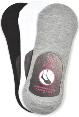 Kinetix Lindy 3 Siyah Beyaz Gri Mel Kadın Patik Çorap