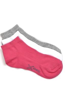 Kinetix Ruthy Fuşya Gri Mel Beyaz Kadın Patik Çorap