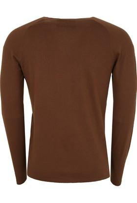 Hugo Boss Erkek Sweatshirt Kahverengi 50375100
