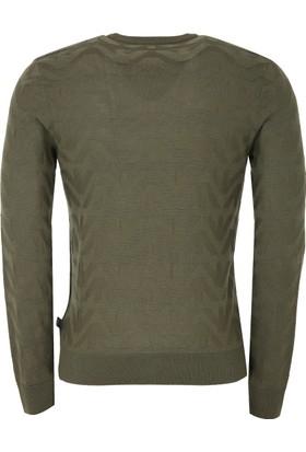 Armani Jeans Erkek Sweatshirt Yeşil 6Y6MD86M22Z