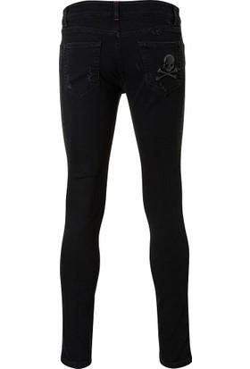 Philipp Plein Jeans Erkek Kot Pantolon Siyah MDT0535PDE001N