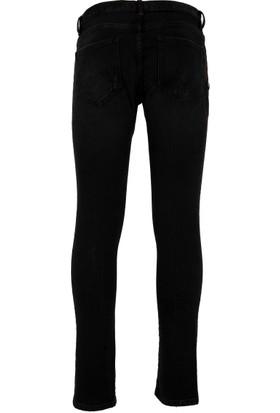 Philipp Plein Jeans Erkek Kot Pantolon Siyah MDT0561PDE001N