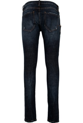 Philipp Plein Jeans Erkek Kot Pantolon Lacivert MDT0561PDE001N