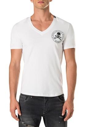 Philipp Plein Erkek T-Shirt Beyaz MTK1603PJY002N