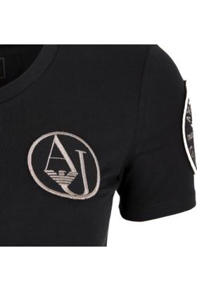 Armani Jeans Kadın T-Shirt Siyah 6Y5T885JAJZ