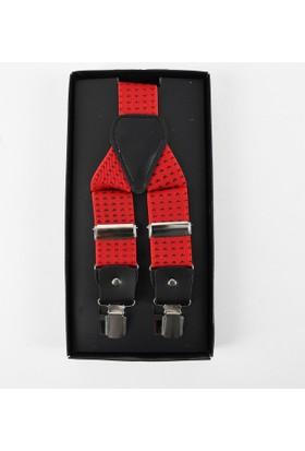 Deepsea Kırmızı Kuş Desenli Erkek Pantolon Askısı 1701398