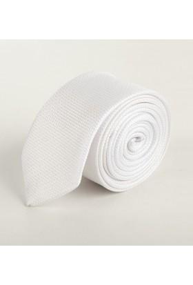 Deepsea Beyaz Desenli Erkek Kravat 1809002