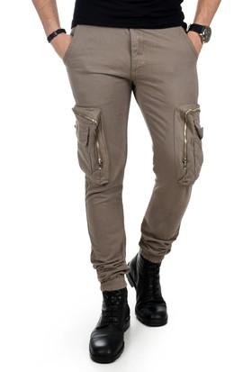 83dc2f1949c5f ... Deepsea Bej Paçası Ve Beli Lastikli Cep Fermuarlı Erkek Spor-Kargo  Pantolon 1801574 ...