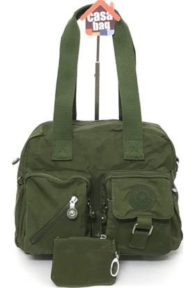 Smart Bags Krinkıl Kumaş Kadın Omuz - Çapraz Çantası Yeşil