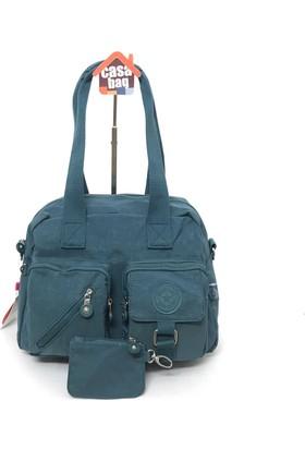 Smart Bags Krinkıl Kumaş Kadın Omuz - Çapraz Çantası Açık Mavi