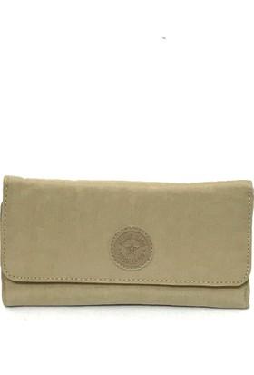 Smart Bags Krinkıl Kumaş Kadın Cüzdan Vizon