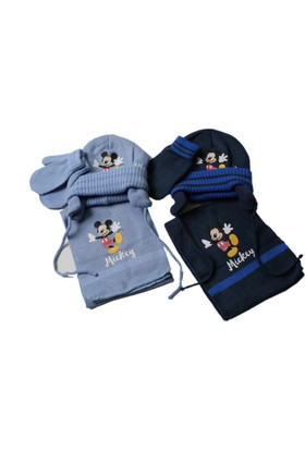 Disney Mickey Mouse Atkı Bere Eldiven Seti Cap-0083