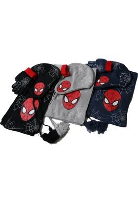 Marvel Spiderman Atkı Bere Eldiven Seti Cap-0148