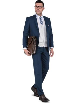 Buenza Erkek Takım Elbise Petrol Mavi