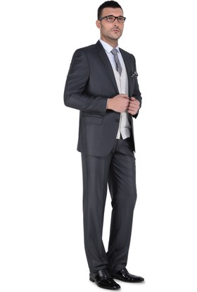 Buenza Erkek Takım Elbise Füme
