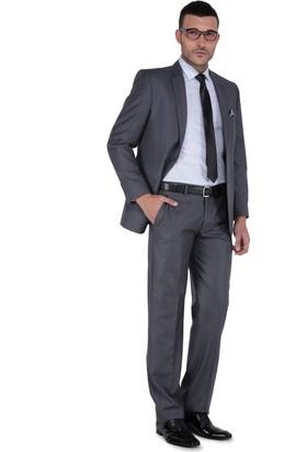 Buenza 6 Drop Klasik Kesim Erkek Takım Elbise - Koyu Gri
