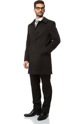 Buenza Hermes Klasik Kesim Palto - Füme