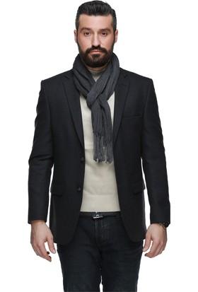 Buenza Montana Klasik Blazer Erkek Ceket Füme