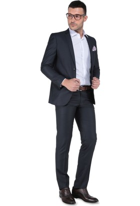 Buenza 8 Drop Slim Fit Takım Elbise-Füme