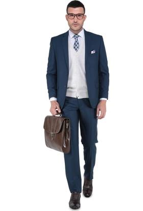 Buenza 120S Erkek Takım Elbise Petrol Mavi