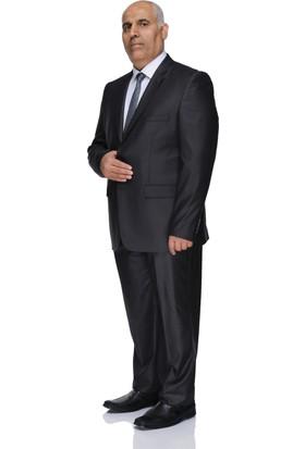 Buenza 120S Büyük Beden Erkek Takım Elbise-Füme