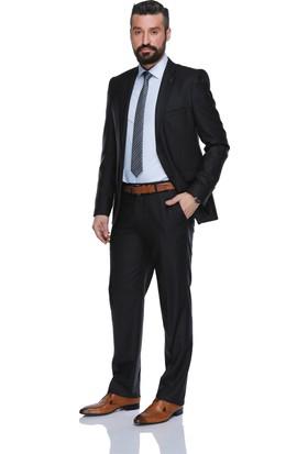 Buenza Gardenya Yün Dar Kesim Erkek Takım Elbise - Lacivert