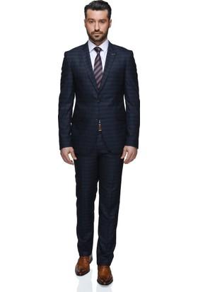 Buenza Eto Mono Tk Yrt 8 Drop Slim Fit Takım Elbise - Lacivert