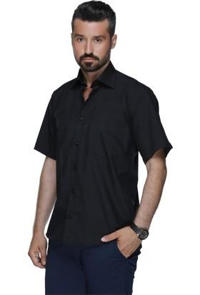 Buenza Coton Kısa Kol Gömlek Siyah