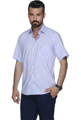 Buenza Coton Kısa Kol Gömlek - Lila